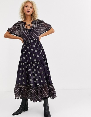 Free People Stelle printed maxi dress