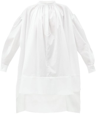 Alexander McQueen Dip-hem Cotton Mini Dress - White