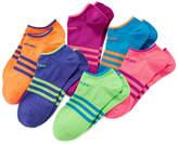 adidas 6-pk. Superlite No-Show Socks - Girls