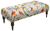 Skyline Furniture Birdwatcher Tufted Bench Multi Colored
