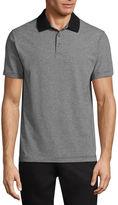 Claiborne Feeder Stripe Short Sleeve Jersey Polo Shirt
