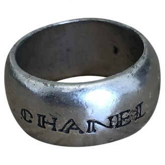 Chanel Silver Metal Rings