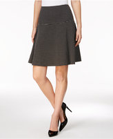Tommy Hilfiger Check-Print Fit & Flare Skirt