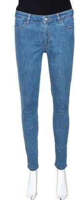 Prada Blue Denim Medium Wash High Waisted Skinny Jeans S