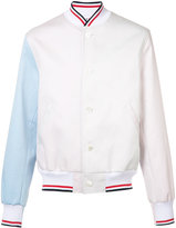 Thom Browne contrast sleeve jacket - men - Cotton/Polyester/Cupro - 3