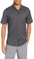 Travis Mathew Men's Hines Slim Fit Wrinkle Resistant Sport Shirt