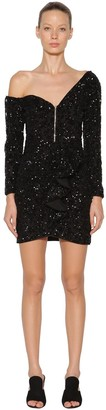 Self-Portrait Self Portrait Embellished Sequin Mini Dress