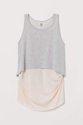 H&M MAMA Double-layered sports top