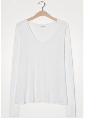 American Vintage Kobibay Long Sleeved White T Shirt - X Small