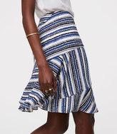 LOFT Tidal Stripe Seamed Skirt