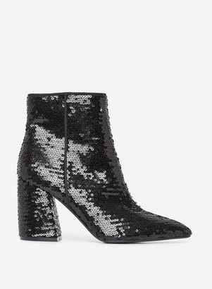 Dorothy Perkins Womens Black 'Astroid' Sequin Boots, Black