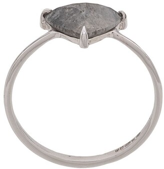 Niza Huang 18kt White Gold Tillion Cut Grey Diamond Ring