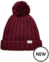Trespass Alisha Knitted Pom Pom Hat - Burgundy