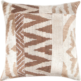 Found Object Hand-Woven Patchwork Ikat Pillow