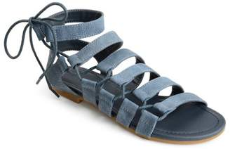 Brinley Co. Women's Caged Faux Leather Strappy Gladiator Sandals