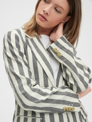 Gap Striped Linen Blazer