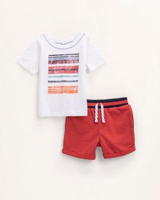 Splendid Baby Boy Stripe Screen Tee Set