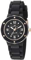 Oceanaut Women's 'Acqua Star' Quartz Stainless Steel and Silicone Casual Watch, Color:Black (Model: OC0432)