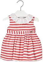 Mayoral Baby-Girl Pink-Coral-Striped-Sateen Dress
