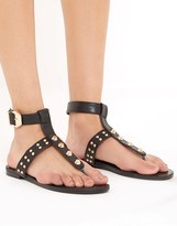 PrettyLittleThing Studded Sandals