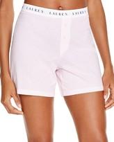 Lauren Ralph Lauren Rib Essentials Boxer Brief Pajama Shorts