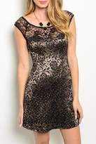 Adore Clothes & More Gold Lace Dress