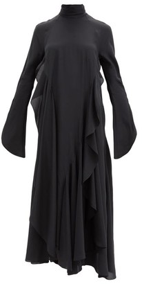 Petar Petrov Alane Ruffled Silk-chiffon Dress - Black