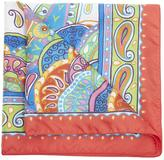Etro Artistic Paisley Silk Pocket Scarf