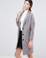 Helene Berman Ovoid Ema Coat In Confetti Tweed