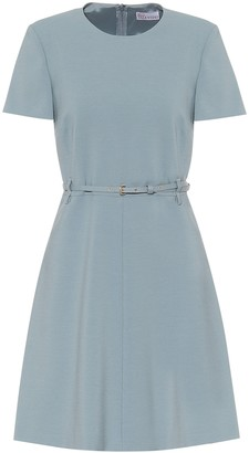 RED Valentino belted stretch-crepe dress