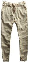 TULIPTREND Men's Casual Cool Pants Linen Cotton Trousers Long Tether Belt BW
