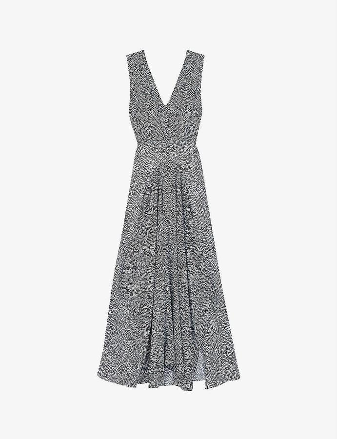 Maje Renalle animal-print asymmetric dress