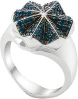 OAK Nature is King Ring, Silver with Blue Topaz - Ring Size O