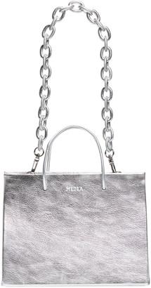 Medea Hanna Chain Strap Metallic Leather Tote