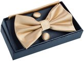 Alizeal Mens Tuxedo Bow Tie& Hanky& Cufflinks Set