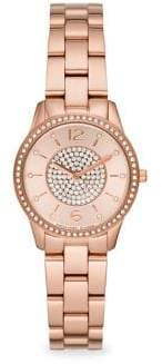 Michael Kors Runway Two-Hand Rose Gold-Tone Stainless Steel Watch
