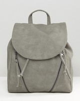 Pieces Clean Double Zip Backpack
