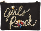 Steve Madden Embellished Girls Rock Small Convertible Pouch