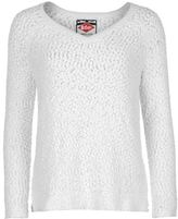 Lee Cooper Womens V Neck Knit Jumper Sweater Pullover Long Sleeve Warm Bobble