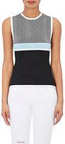 Narciso Rodriguez WOMEN'S STRIPED REVERSIBLE TANK-BLACK SIZE 42 IT