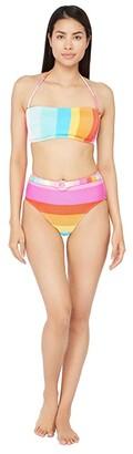 Trina Turk 25th Anniversary - Sunrise Stripe Bandeau Bra Bikini Swimsuit Top (Multi) Women's Swimwear