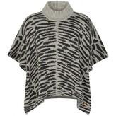 Grey Tiger Stripe Jacquard Cape