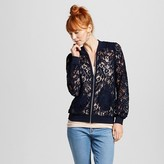 Women's Lace Bomber Jacket Navy - Xhilaration (Juniors')