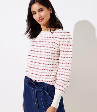LOFT Stripe Textured Sweater