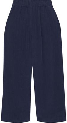 Diane von Furstenberg Victoire Cropped Crinkled-tencel Culottes