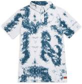 7 For All Mankind Boy's Tie-Dyed Cotton Polo - Indigo, Size m (10-12)