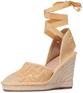 Fendi Roam Ankle Strap Wedge Sandal