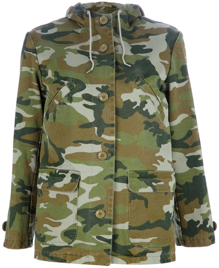 A.P.C. camouflage print jacket