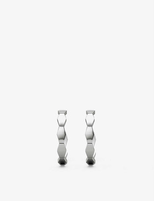 Vashi Connections 18ct white-gold hoop earrings