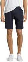 Moncler Tricolor-Trim Sweat Shorts, Navy